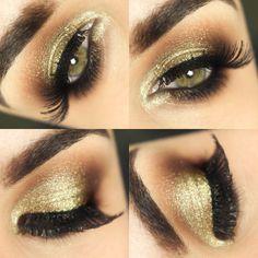Tutorial – a maquiagem dourada da Claudia Leitte
