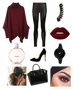 """Winter Outfit💯"" by duygunur-72 ❤ liked on Polyvore featuring Rebecca Minkoff, Givenchy, Jules Smith, Movado, Lime Crime and Chanel"