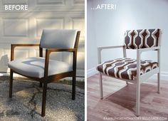 Rambling Renovators: DIY: Retro Chair Makeover - hey, I've got a similar chair that I want to makeover like this!