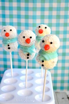DIY Kerstcadeau Snowpops -Uit Pauline's Keuken