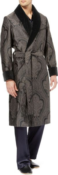 CLASSIC DRESSING GOWN FOR MAN 10% CASHMERE-90% WOOL WITH HALF ... : mens quilted dressing gown - Adamdwight.com