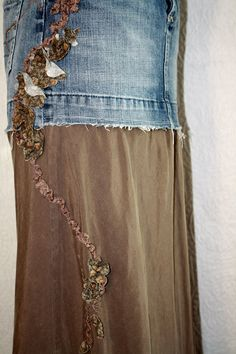 Altered Denim Skirt Idea