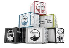 Pure Origins Box on Behance Container Coffee Shop, Container Bar, Sea Containers, Creative Food Art, Box Building, Origins, Pure Products, The Originals, Putt Putt