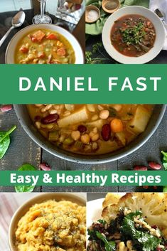 These meals are easy to make and will feed your family nutritious dinners and lunches! Low Calorie Recipes, Healthy Dinner Recipes, Vegetarian Recipes, Cooking Recipes, Daniel Fast Recipes, Good Food, Yummy Food, Dinners, Meals