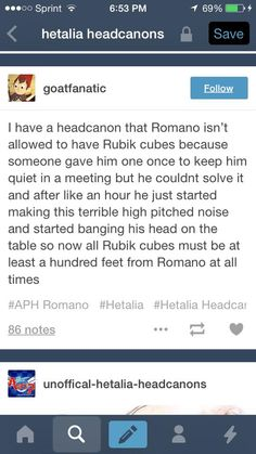 No wonder my friends call me Romano because I would totally do this. It all makes sense now. Lol sounds completely like me. Hetalia Headcanons, Hetaoni, Hetalia Funny, Diary Entry, Spamano, Axis Powers, Have Time, At Least, Fandoms