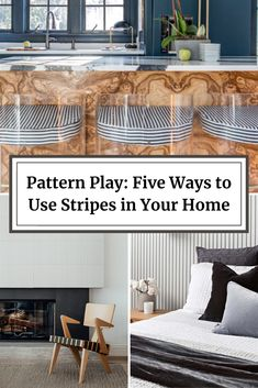 Pattern Play: Five Ways to Use Stripes in Your Home Decorating Blogs, Decorating Your Home, Interior Decorating, Interior Color Schemes, Home Trends, Colorful Interiors, Your Style, New Homes, Stripes