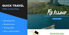 Quick Travel HTML Landing Page by nasirwd QuickTravel is the best HTML Travel Landing page for Travel Agency¡¯s and Agents Offering special Tourism packages for world¡¯s exotic destinations to their valued customers. Fonts UsedMerriweather MontserratNote: Images used are fr