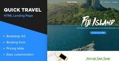 Quick Travel HTML Landing Page #Adventure, #Journy, #LandingPage, #Nasirwd, #OnePage, #Package, #Responsive, #Tourism, #Travel http://goo.gl/oJBN1N