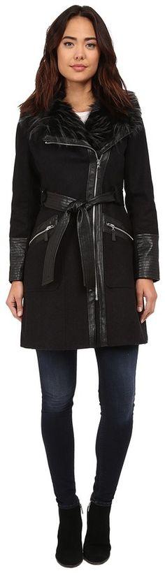 Via Spiga Kate Middleton w/ Pleather Fur Sleeves