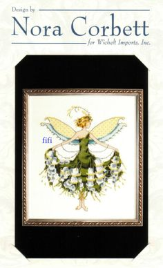 Lily Of The Valley, Spring Garden Party: Pixie Couture Collection by Nora Corbett, Fantasy Cross Stitch, Cross Stitch Fairy, Cross Stitch Angels, Just Cross Stitch, Cross Stitching, Cross Stitch Embroidery, Cross Stitch Designs, Cross Stitch Patterns, Elves And Fairies