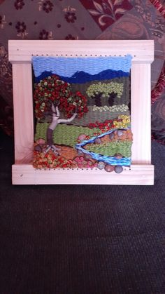 Weaving, Frame, Home Decor, Weaving Looms, Needlepoint, Projects, Manualidades, Tapestry Weaving, Picture Frame