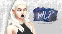 Burrito Sims: Matte lipstick • Sims 4 Downloads