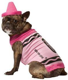 Pink Crayola Pet Costume http://keeplookingbusy.com/itemDetails.aspx?id=B0083L4NMO