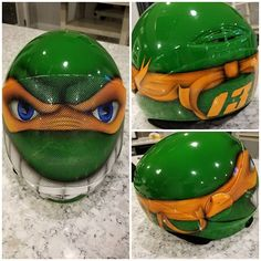 Michelangelo Teenage Mutant Ninja Turtle skydiving Cookie G3 helmet by airgraffix.com  #skydiving #cookieg3 #airgraffix #customhelmet