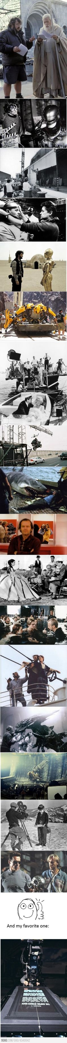love this: famous directors working on some of the most iconic movie scenes of all time.