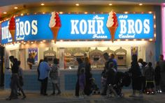 8 Great Places to Eat on the Wildwood Boardwalk in New Jersey - Kohr Bros has the BEST soft-serve ice cream on the entire boardwalk!