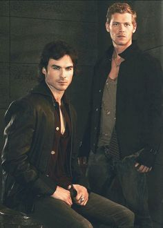 Damon Salvatore Klaus Mikaelson. The Vampire Diaries. My favorite Bad boys