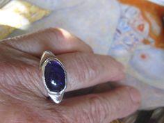 Sterling and Amethyst Ring Handmade etsy by JudithGayleDesigns, $65.00