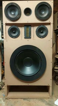 Beautiful Custom Built Speaker Cabinets