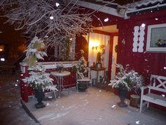Snø på trappa