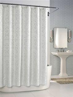 Parisian Shower Curtain White