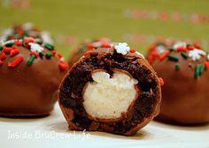 Christmas Cookies.....Brownie Bites but with Cherries