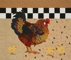 Henny Penny Chicken Bee Creative Art Quilt Pattern