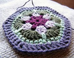 African Flower Hexagon Crochet - Free Pattern
