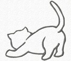 Free Embroidery Designs, Cute Embroidery Designs and like OMG! get some yourself some pawtastic adorable cat shirts, cat socks, and other cat apparel by tapping the pin! Embroidery Designs, Cute Embroidery, Embroidery Stitches, Machine Embroidery, Embroidery Tattoo, Brother Embroidery, Cat Drawing, Line Drawing, Cat Crafts
