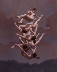 The gravity defying nude paintings of Harry Holland