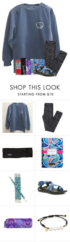 """""""comment places to buy cute sweatshirts"""" by legitmaddywill ❤ liked on Polyvore featuring Patagonia, Lilly Pulitzer, Vera Bradley, Chaco and TOUS"""