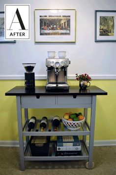 Before & After: An IKEA Coffee Cart Hack | Apartment Therapy