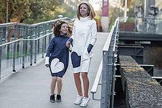 "teplákové šaty ""mama a dcéra"" - ajkadizajn / SAShE. Makeup Trends, Sewing, Color, Easy, Fashion, Tunic, Moda, Dressmaking, Couture"