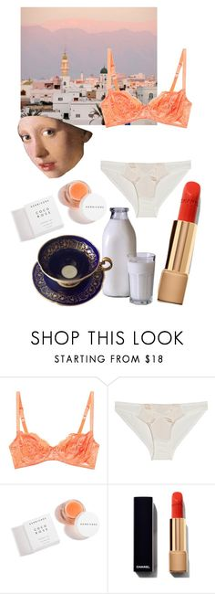 """The sun sets on the Middle East ringing in my cup of tea"" by gina-stewart75 on Polyvore featuring Deborah Marquit, Agent Provocateur and Herbivore"