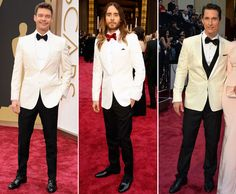 The Best Dressed Men of the 2014 Academy Awards: The White Dinner Jacket is Trending