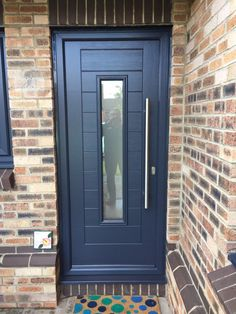 Modern Front Door, Front Entry, Entry Doors, Front Doors, Windows And Doors, Bedroom Cupboard Designs, Bedroom Cupboards, Composite Front Door, Steel Gate