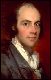 Aaron Burr (1756 - 1836) 3rd Vice-President of the United States under Thomas Jefferson.He was also a well-known Revolutionary War hero and adventurer. Born in Newark, NJ