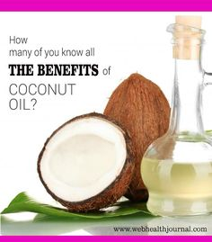 Do you know about various benefits of Coconut oil? Don't you, no worries; we shall let you know each one of them in detail. #health #healthy_living #coconut #health_tips