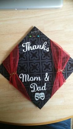 Graduation Hat! Felt letters, glitter paper, and black ...