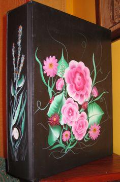 raccoglitore portadocumenti dipinto a mano (lato B)