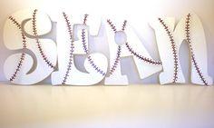 Wooden Baseball Lettering  Custom Wall Decoration by AngelaIngram, $15.00