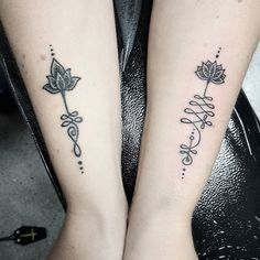 Match matchy one on the left is healed and the right is fresh  #tattoo…