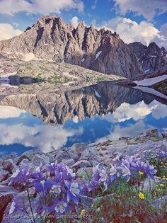 Jagged Mountain Reflection, Weminuche Wilderness, Colorado Photo by Glenn Randall