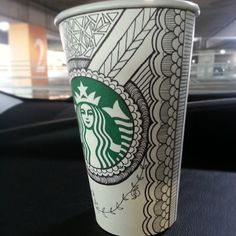 Starbucks cup art!!  @Erin B B B K @Suzy Sissons Mitchell Fellow Williams @Ari Simon Simon Flores @Haven Vaught