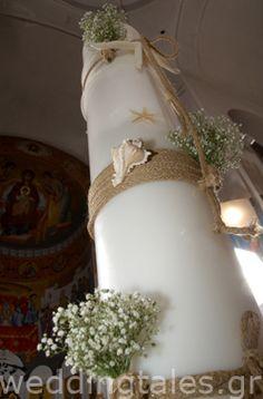 Υπέροχες καλοκαιρινές λαμπάδες  - για το γάμο σας  Δημιουργίες Όνειρο | Οργάνωση & Διακόσμηση γάμου