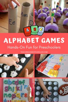 How to Build Preschool Literacy Skills with Games How to Build Preschool Literacy Skills with Games,Teaching the Alphabet Looking for ways to work on the ABCs? These preschool alphabet games work on letter recognition. Literacy Games, Letter Activities, Preschool Learning Activities, Literacy Skills, Alphabet Activities For Preschoolers, Alphabet Games For Kindergarten, Kinesthetic Learning, Letter Worksheets, Abc Games