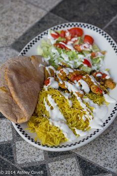 This is a simple and delicious side dish that's full of flavor. The house smelled insanely good while he was making it, and it went perfectly with the marinated, cooked chicken. Veg Recipes, Whole 30 Recipes, Greek Recipes, Cooking Recipes, Healthy Recipes, Healthy Meals, Mediterranean Rice Recipe, Shawarma Recipe, Feel Good Food