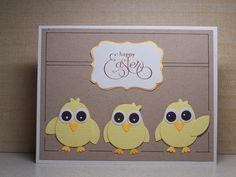Happy Easter   Happy Easter stamp is from the Well Script set.  Two-Step Owl punch
