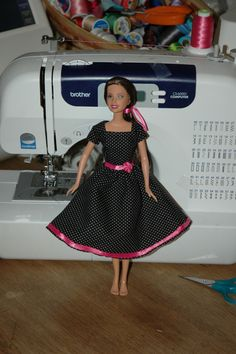 MODEST Barbie Dress Pattern.  Why have I never thought of this!?  GREAT gift idea for a little (modest) girl! :)