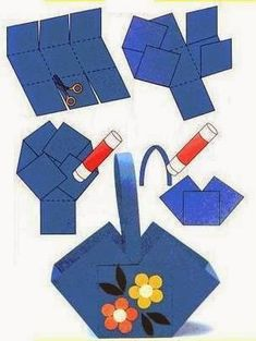 Crafts for preschools : origami tutorial step by step